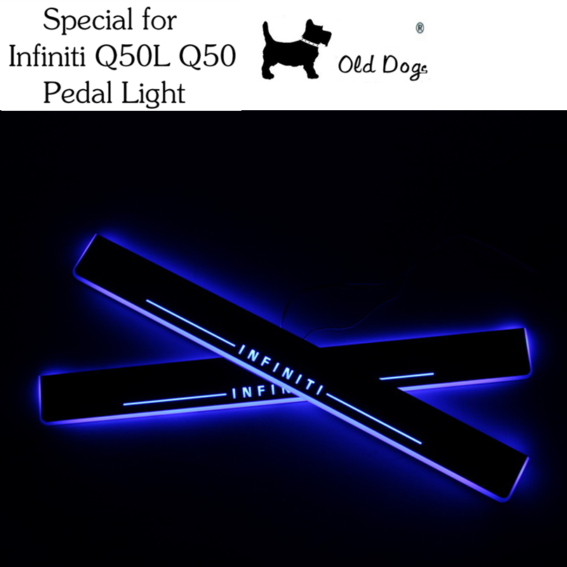 1 Pair for Infiniti Q50L Q50 Car Styling LED pedal moving light Door Scuff front door sill Plate Cover Side lamp free shipping<br><br>Aliexpress