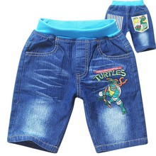 New style boy ninja turtles jeans pants kids summer cute pants children's leisure trousers wholesale 5pcs/lot(China (Mainland))