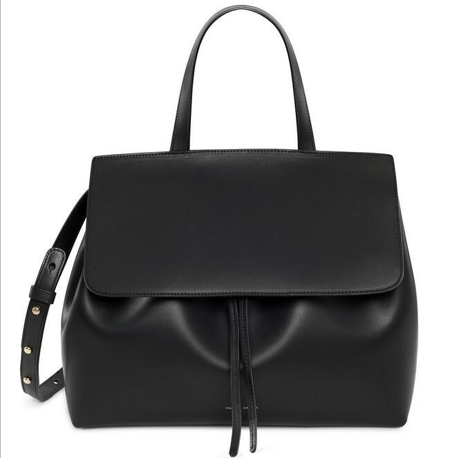 2016 Women Shoulder Bag mansur gavriel Lady Bag Drawstring Leather Women Shoulder Bag Female Handbag Messenger Bags