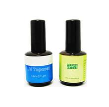 2 Pcs Set of Acrylic Nail Polish Primer Base Coat & UV Top Coat Gel Nail Art Gel Care 0.5 FL.oz(China (Mainland))