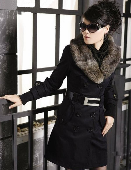Hot! 2017 Fashion Womens Winter Coat Winter Warm Long Coats Faux Fur Collar Slim Jackets Women With Belt Parkas Army Green