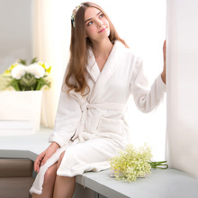 Bath Robe Female Lovers Coral Fleece 9 Colors Night Gown Spa Bathrobe Unisex Bath Robe Women Long Sleeve Kimono Womens Gowns(China (Mainland))