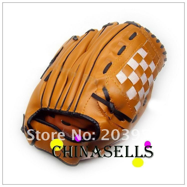 11pcs new hot in stock baseball glove 11.5 inch soft PVC material pitcher left-hand glove(China (Mainland))