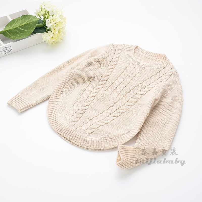 2016 Kids Girls Crochet Knit Sweaters Baby Girl Fashion Knitting Jumper Pullover Children's Wool Blends Winter Clothing - Miss2010 store
