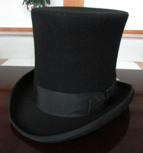 British Wool Top Cap / Hat / Total Presidential Gentleman Magic Hat 25CM Men Fedoras Hat Felt Vintage Party Church Hats B-3751(China (Mainland))