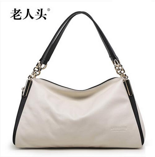 famous brands women bag 2015 new 100% genuine leather bag Top Quality  fashion panelled  women handbags Shoulder Bag 3 Color<br><br>Aliexpress