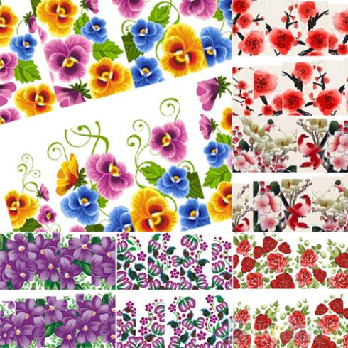 Beautiful Flower Decal Water Transfer Manicure Nail Art Stickers Tips Decoration 1U36(China (Mainland))