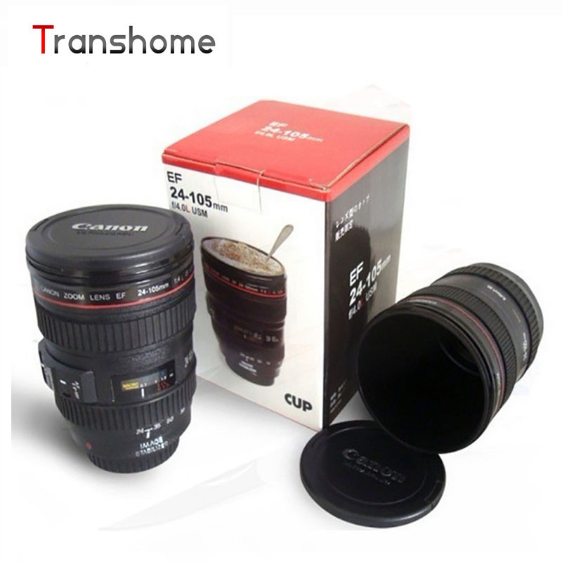 TRANSHOME 420ml SLR Camera Coffee Lens Mug cup 1:1 scale coffee cup 100% with CANIAM logo on caver creative gift(China (Mainland))