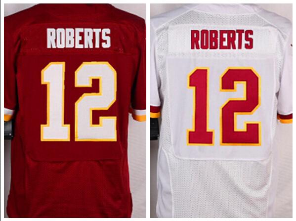 New Arrival Jersey #12 Roberts Men Elite Football Jersey Roberts 12,Size M-3XL,Embroidery logos Mix Order(China (Mainland))