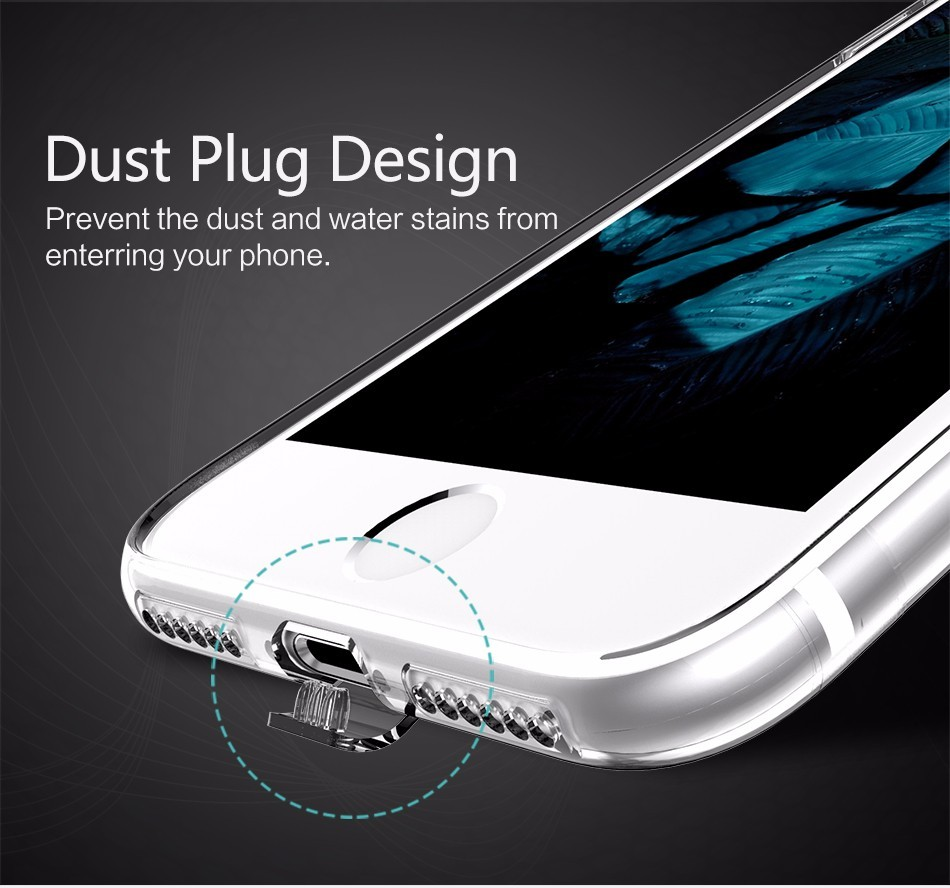 i7 Case Original USAMS Ultra thin TPU Case For iphone 7 Soft Clear Gel Silicone Protective Cover Housing For iphone 7 Plus Cases