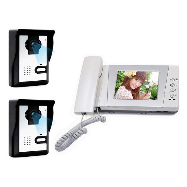 """Hot sale 4""""Video Door Phone Handset/Hands-free intercom, access control,door view with door unlock for villas/single apartments(China (Mainland))"""