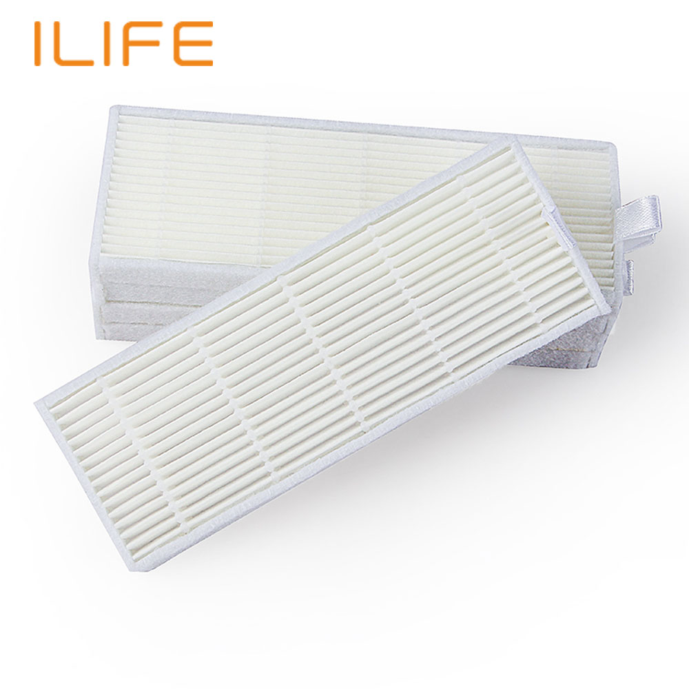 New Arrival 2 PCS HEPA Filter Ilife A4 filter Robot Vacuum Cleaner Parts Replacement Kits(China (Mainland))