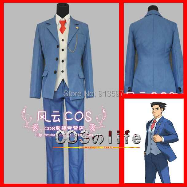 Anime Phoenix Wright 5 Ace Attorney Special suit Cosplay Costume