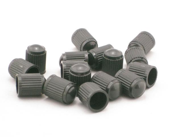 100pcs BLACK PLASTIC TIRE VALVE STEM CAPS Dust Cover(China (Mainland))