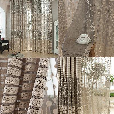 Novo painel de porta janela varanda cortina de tule cortina Valances cachecol quente(China (Mainland))