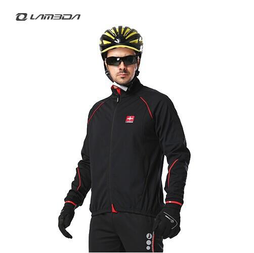 LAMBDA Winter Cycling Jacket Men Fleeced Windproof Jerseys Thermal Hiking Outdoor Sportwear 0064<br><br>Aliexpress