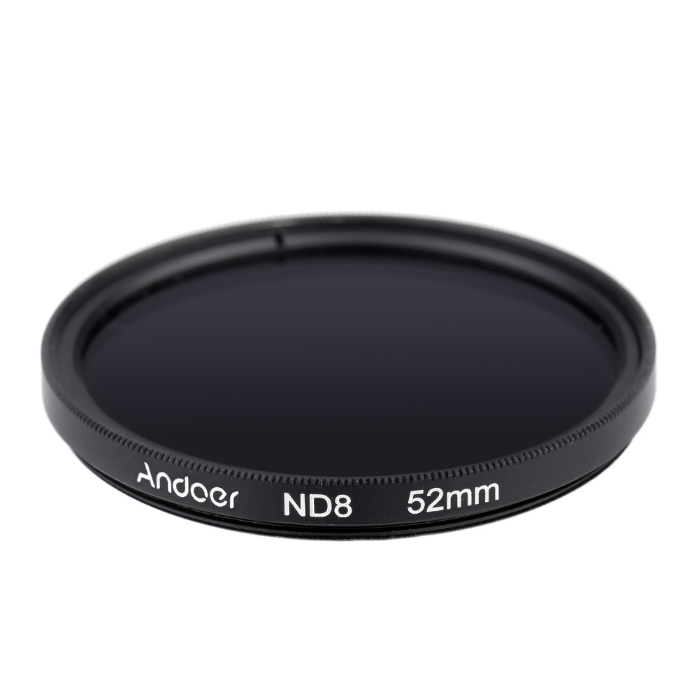 Andoer Photo filter 52mm Fader ND8 Filter Neutral Density Photography Filter for Nikon Canon Sigma Sony DSLRs(China (Mainland))