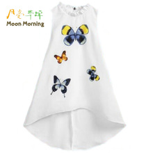 Buy Moon Morning Girls Longo Shirts Polyester 6T~14T Butterfly Turtleneck Collar Dresses Sleeveless Fashion Newest Branded Blouse for $13.84 in AliExpress store