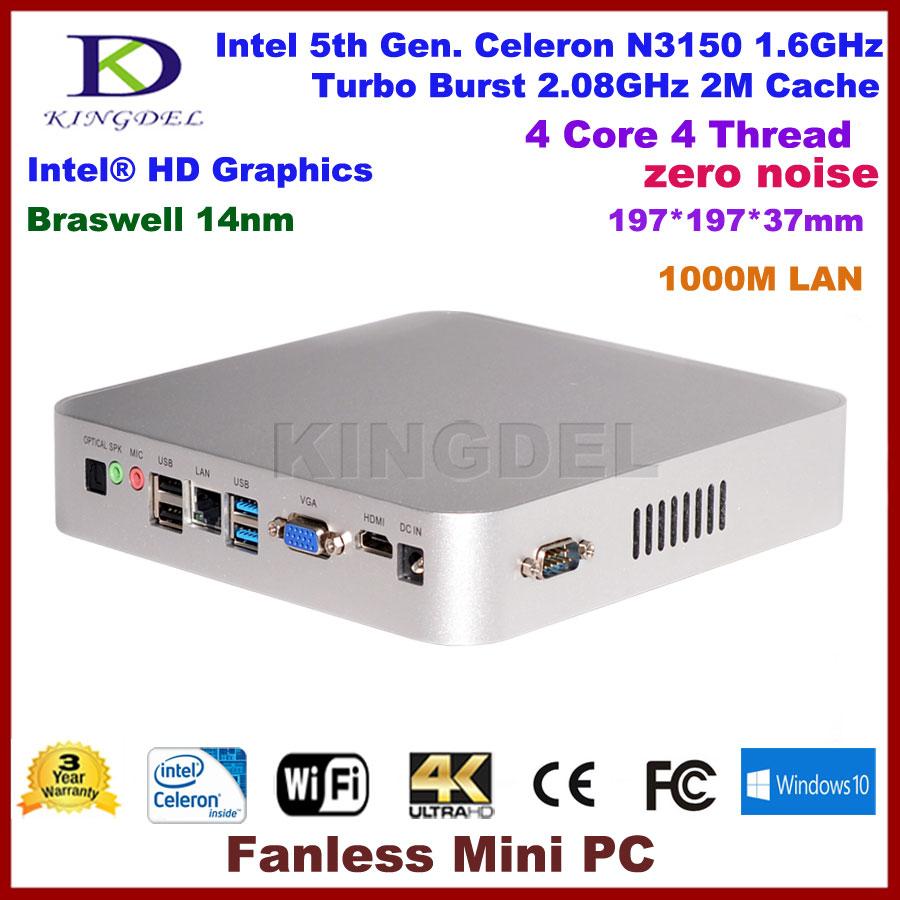 2016 Intel Celeron N3150 quad core mini pc desktop computer DDR3 RAM+MSATA SSD, HDMI,VGA,Optical,COM RS232<br><br>Aliexpress