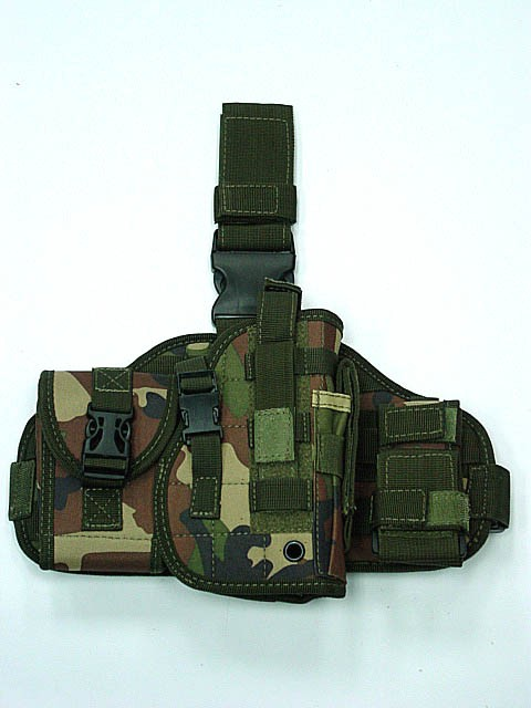 Camouflage War games Mohr holster design combined tactical drop leg holster