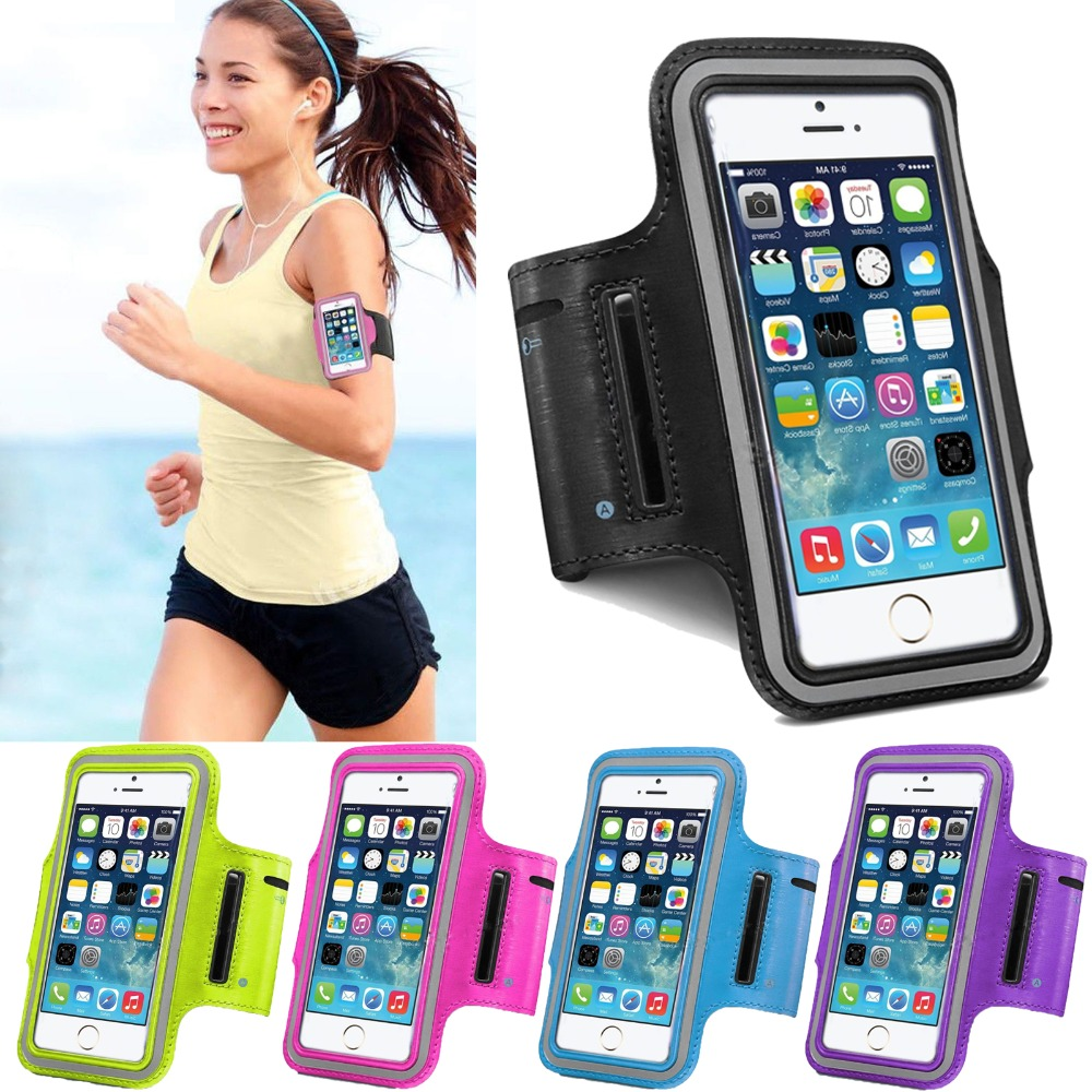 5S Fashion Waterproof Sports Running band For Iphone 5 5S SE Leather Case Belt Wrist Strap GYM Bands Mobile Phone Cover(China (Mainland))