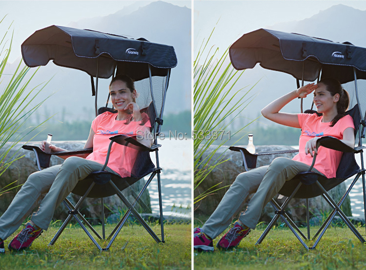 Гаджет  Outdoor Portable Folding Backpack Beach Chair With Sunshade Folding Fishing Chair with Awning Causal Foldable Canopy Chair None Мебель