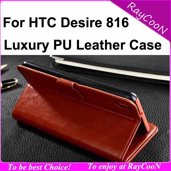 wholesale 10pcs/lot for HTC 816 top quality PU leather wallet case,For htc desire 816 luxury leather stand cover,can mix color