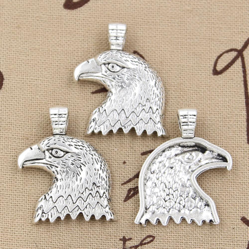 Wholesale 30pcs Charms eagle hawk 33*29mm Antique pendant fit,Vintage Tibetan Silver,DIY for bracelet necklace(China (Mainland))