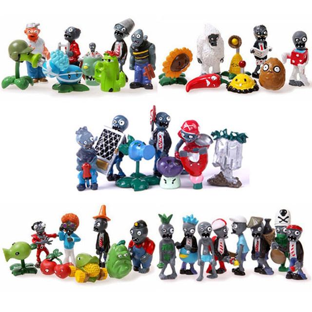 Горячие Классические игрушки растения против зомби игры 2 ПВХ Фигурку игрушки для детей Рождественский подарок Бесплатная доставка