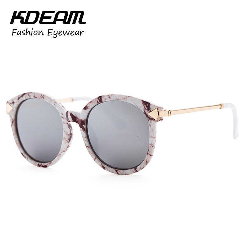 KDEAM Steampunk Goggles Ladies Round Sunglasses Brand Arrow Metal-Rim Sun Glasses Women With Package Gafas De Sol KD9810(China (Mainland))