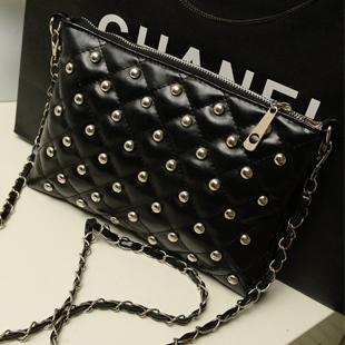 Wholesale/retail Fashion Women's Handbag Candy Color Rivet Chain Bag Shoulder Messenger Bag Clutch Handbag Drop Free shipping