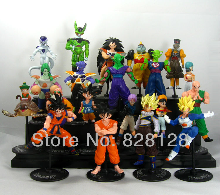 Free Shipping 20x Dragon Ball Z GT Action Figures Crazy Party 10CM CELL/FREEZA/Goku PVC Dragonball Figures Best Gift(China (Mainland))