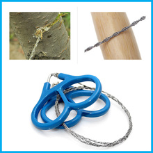2016 Emergency Survival Gear Plastic Ring Steel Wire Saw Scroll Saw Emergency Outdoor Camping Hiking Survival Tool Travel Kits