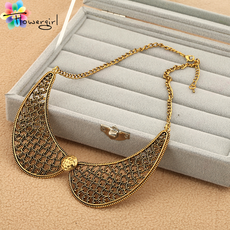 2016 14K Fashion Vintage Gold Chain Hollow Out Collar Short Necklace [XL3](China (Mainland))