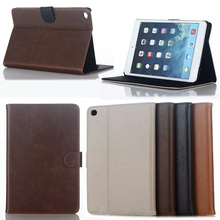 Luxury Business Flip Wallet Card Stand Case Crazy hours Leather Cover For iPad Mini 4 Protective Tablet cases Y4A59D