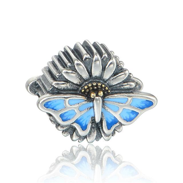 925 - серебристо-ювелирные бусины бабочки бусины Fit Chamilia пандора браслет серебро 925 мода DIY