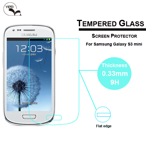 0.33mm Ultrathin Premium Tempered Glass Film For Samsung S3 Mini i8190 Screen Protector Protective Film Free Shipping(China (Mainland))
