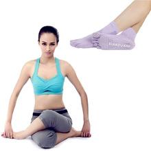 Splendid Summer Style Black Sheer 5-Toe Exercise Gym Non Slip Massage Toe Socks With Full Grip Leg Warmers Calcetines boot sock