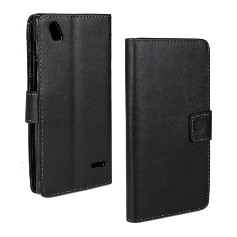 30 pcs/lot Card Slot Flip 100 Grain PU Leather Stand Wallet Case Cover Zte Blade Vec 4G
