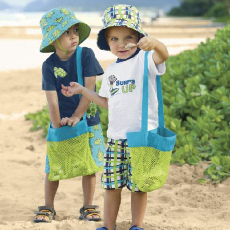 size small sand away beach mesh bag Children Beach Toys Clothes Towel Bags baby toy collection bag(China (Mainland))