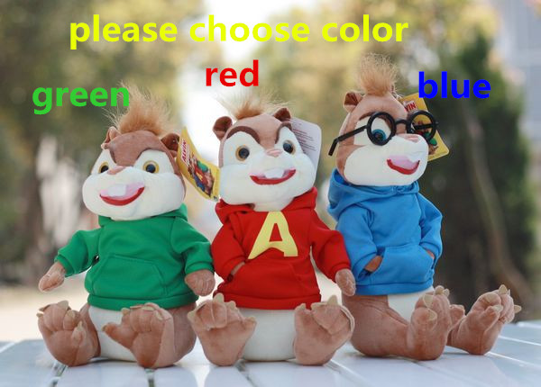 Plush doll 1pc 23cm Alvin and the Chipmunks squirrel brother funny home decoration children stuffed toy creative gift for baby(China (Mainland))