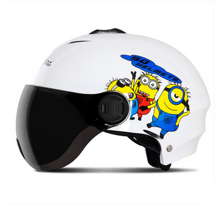 NEW ARRIVAL Andes-X-331-D Fashion ABS Motorbike Half Face Casco Motorcycle Bright White Cartoon Helmet & UV Lens Adult Summer(China (Mainland))