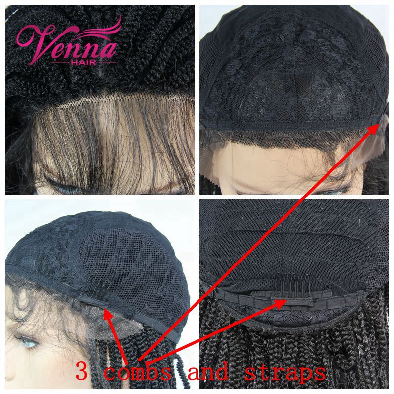 Hot Selling Hand Tied Synthetic Lace Front Wig For Black Women Can Be Styled By Yourself Braided Hair Wig