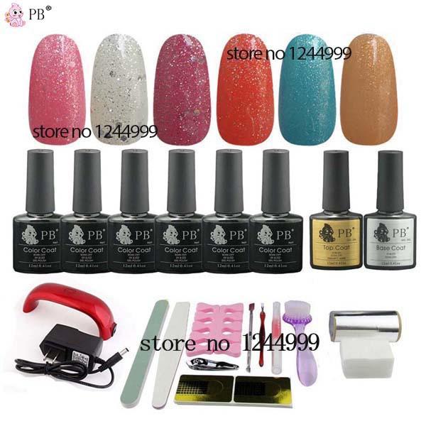 8PCS PB nail tools Gel Polish Set base Nails Uv Gel nails gel varnish professional nail polish Kit Professional #89(China (Mainland))