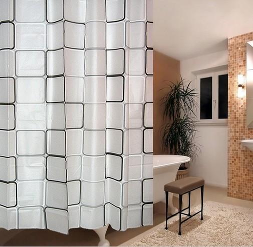 Rideaux en plastique rideau de douche avec 12 crochets - What does salle de bain mean in english ...