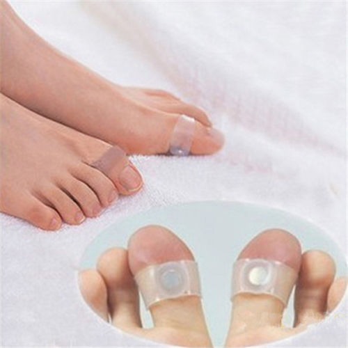 Hot Sale 1 Pai Original Practical Magnetic Silicon Foot Massage Toe Ring Weight Loss Slimming Easy Healthy Free ship(China (Mainland))