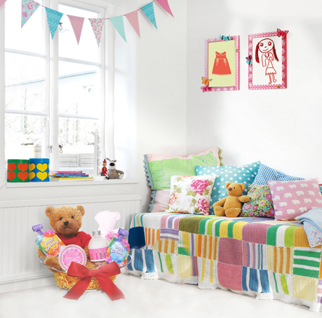 Pretty Kid Room Teddy Bear Colorful Banner Printed Backgrounds for Photo Studio Props 5X7ft Vinyl Cloth Backdrop Photo Backdrops(China (Mainland))