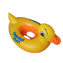 Inflatable Animal Sitting Ring Children PVC Life Buoy Swim Rings Kids Cute Yellow Duck Seat Life Buoy For Kids 1-3 Years Old(China (Mainland))