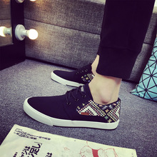 2016 Wholesale Classic Fashion Men Spring Autumn Canvas Shoes Casual Outdoor Lace-up Men Shoes Yeezy Flats Chaussure Homme(China (Mainland))
