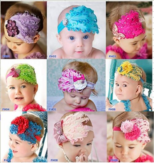 Beautiful Cut Peacock Feather Headband hairband Baby Kids Infant Headbands Head Children Accessories Baby Christmas Gift 1Pc(China (Mainland))